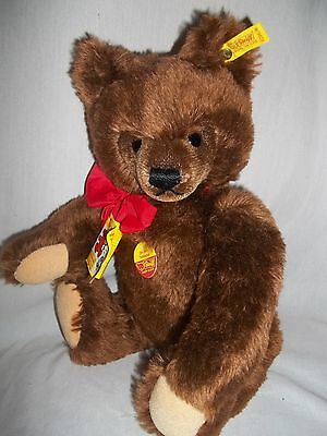 VINTAGE STEIFF MOHAIR TEDDY BEAR WITH GROWLER  MADE IN WEST-GERMANY