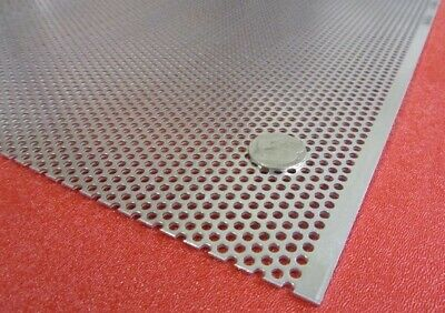 "Perforated Aluminum Sheet .125 /_1//8/"" Thick 12/""x 12/"" 3//4/"" hole 1/"" Stagger 3003"