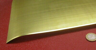 """Brass Perforated Extra Thin Sheet,  .016"""" Thick x 24"""" x Per Ft"""", .016"""" Hole Dia."""