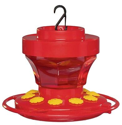 First Nature 3091 16 Ounce Hummingbird Nectar Flower Feeder with Easy Cleaning
