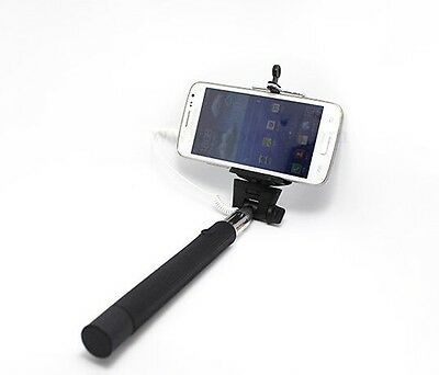 Selfie Stick Monopod Handheld Wired Easy Connect For IPhone / Android Extendable