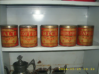 rare early 1900s 'the chatham kitchen cabinet' metal canisters chatham ontario