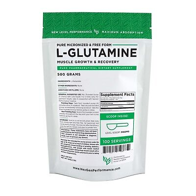 L-GLUTAMINE POWDER -FREE FORM –Leaky Gut Recovery- Muscle Recovery -ALL SIZES