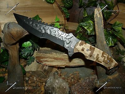 Survival Knife/Bowie/M-tech/Full tang/440SS/Tanto/MOLLE/Hunting/Camping/Zombie