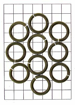 x10 Leathercraft Hardware Brass Ring O Link Fastener for Leather Straps 21mm