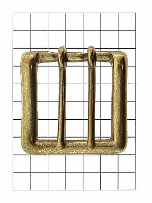 Leathercraft Hardware 2 Prong Soild Brass Belt Buckle for Leather 58mm x 58mm