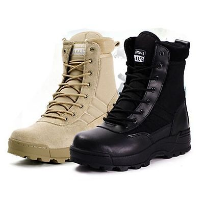 Mens combat /military lace up desert Tactical  high top ankle winter boots