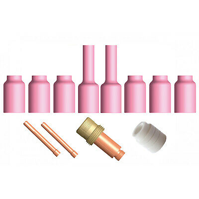 TIG Gas Lens / Saver Collet Body 12 Piece KIT- 2.4mm - WP 17/18/26 SR