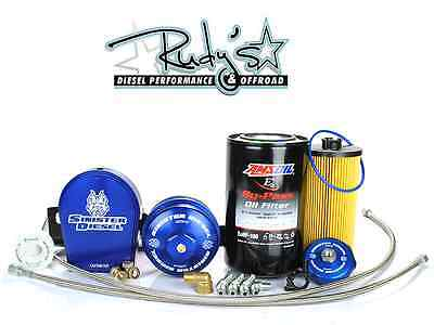 Sinister Diesel Bypass Oil System W Factory Filter 03-07 Ford 6.0L Powerstroke