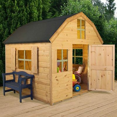 6ft x6ft WOODEN DUTCH WENDY PLAYHOUSE KIDS WOOD TOWER WENDY PLAYHOUSE NEW UN USE