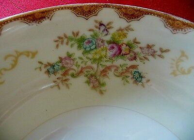 "Meito China ""Dalton"" - Hand Painted - 2 Fruit Bowls"