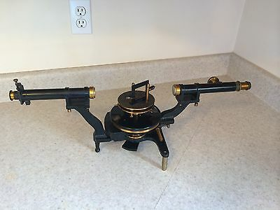 Rare Unusual Brass Lacquered Cast Iron Spectroscope Spectrometer 19th Transit