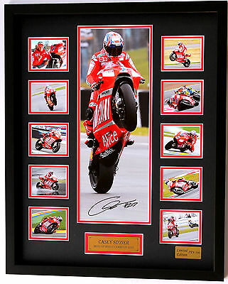 New Casey Stoner Signed Limited Edition Memorabilia Framed
