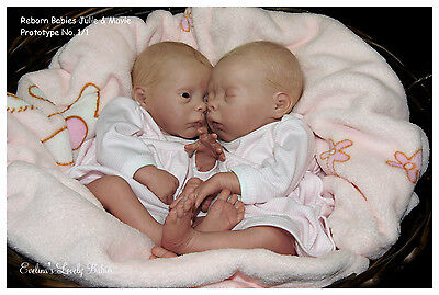 "Reborn Preemie Doll KIT/SCULPT Twins ""Mavie""&""Julie"" by Evelina Wosnjuk"
