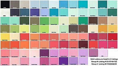 SOLID COLOR Flannel Fabric by the Yard - Choose from Many Colors Group #1