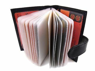 PORTA CARTE DI CREDITO IN PELLE 26 Buste Porta TESSERE Magic Card Wallet Cash