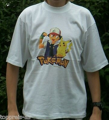 POKEMON T-SHIRT NINTENDO PIKACHU 100% BAUMWOLLE NEU 164 170 Cotton