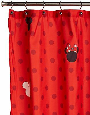 NEW Kids Bathroom Decorative Disney Mickey and Minnie Fabric Shower Curtain