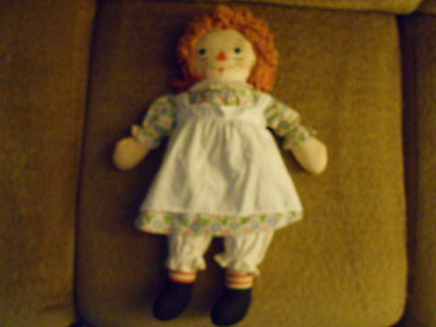 "1947 Johnny Gruelle's Raggedy Ann Doll 20"" Complete Original Clothes Georgene"