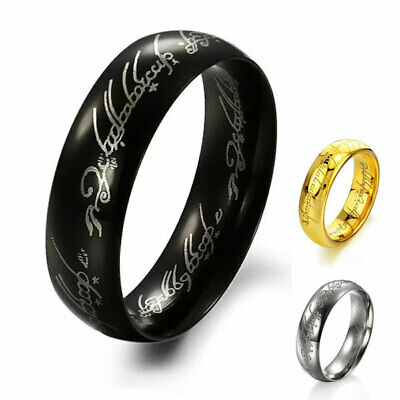 Pour Hommes Femmes Lord of The Rings One Bague Lotr Acier Titane Taille 7 - 12