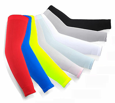 Premium UV Sun Protection Cooling Arm cuff Sleeves Warmer Cycling Golf Fishing