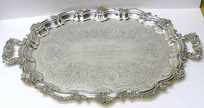 Victorian Silver Plated Tray 1890 stock id 4625