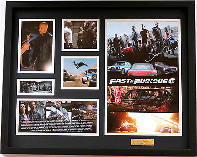 New Dwayne Johnson Signed Fast and Furious 6 Limited Edition Memorabilia