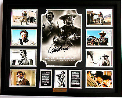 New Clint Eastwood Signed Limited Edition Memorabilia