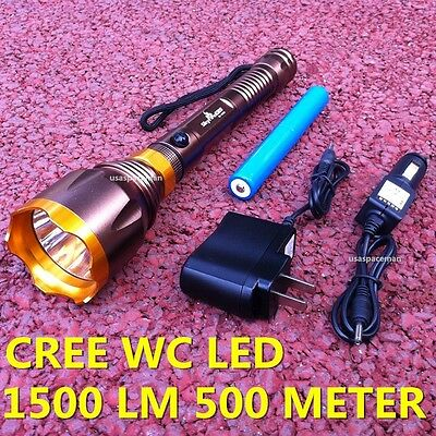 500 METER 1500 LUMEN TACTICAL CREE LED Rechargable FLASHLIGHT TORCH LAMP SK-9280