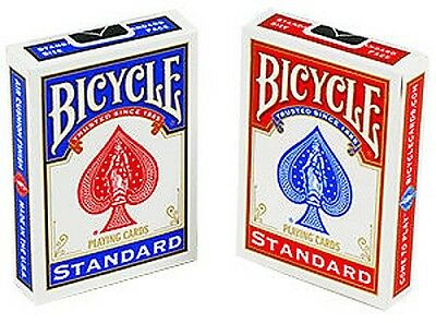 2 New Deck Set of Red Blue Bicycle 808 Poker Playing Cards Rider Back Standard