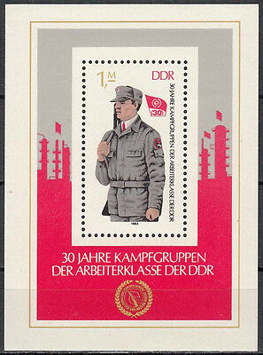 East Germany GDR 1983, Combat Groups of the Working Class Block Mi.# 72, MNH