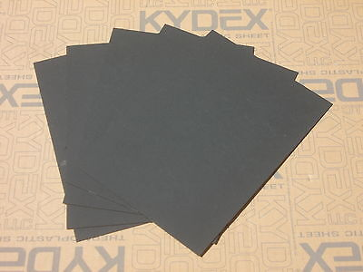 10 Pack KYDEX T SHEET 297 X 210 X 1MM A4 SIZE (P-1 HAIRCELL BLACK 52000)