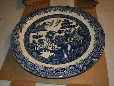"""Churchill of England Blue Willow Platter (charger) 12"""" with Orig Box 4 Available"""