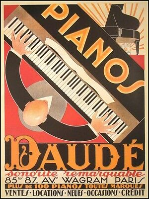 Andre DAUDE (Piano): Framed 1926 Poster