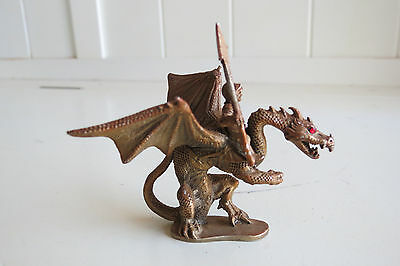 PARTHA PEWTER DRAGON WITH RIDER  PP68 1987 DUNGEONS & DRAGONS