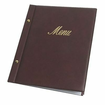 Faux leather Burgundy menu covers