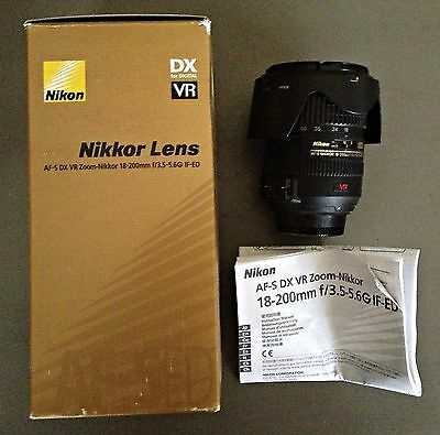 Nikon Nikkor AF-S DX VR 18-200mm F/3.5-5.6 F3.5-5.6 G IF ED IF-ED LENS with BOX