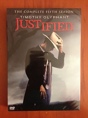 Justified: The Complete Fifth Season 5 (DVD, 2014, 3-Disc Set) FREE SHIPPING