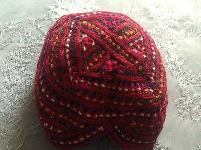 Beautiful Vintage Hand-Embroidered Cap