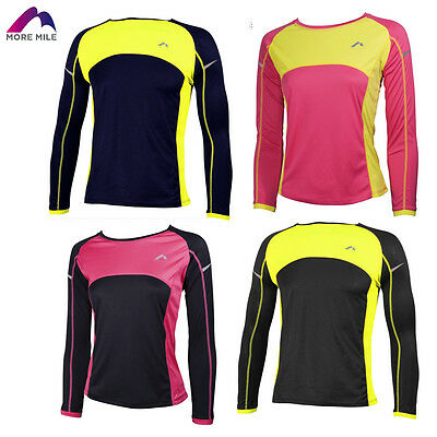 More Mile Childrens Kids Youths Boys Girls Long Sleeve Cold Running Jersey Top