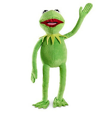 """Disney Store Authentic Muppets Kermit the Frog BIG Plush 16"""" Toy Doll Gift NEW"""