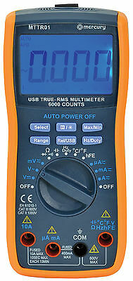 Digital Multimeter True RMS With USB Interface - Software Supplied Multitester