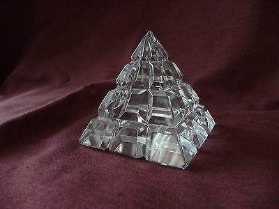 Vintage Waterford Crystal Pyramid Paperweight SIGNED