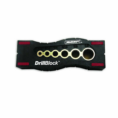 Milescraft 1312 Professional Drillblock With Non Slip Pads and V-Groove