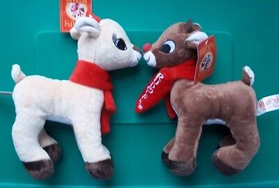 NEW Rudolph Island of Misfit Toys Plush RUDOLPH & CLARICE - CVS Dandee 9 Inch