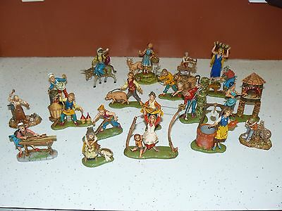FONTANINI DEPOSE ITALY  HUGE LOT OF 19 Figures Made In Italy