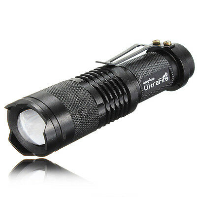 5-Mode 1000LM XML T6 LED Zoomable 18650 Mini Flashlight Torch Lamp Outdoor Light