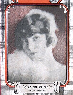 Vintage  1920's Brunswick Records - Marion Harris on Cover