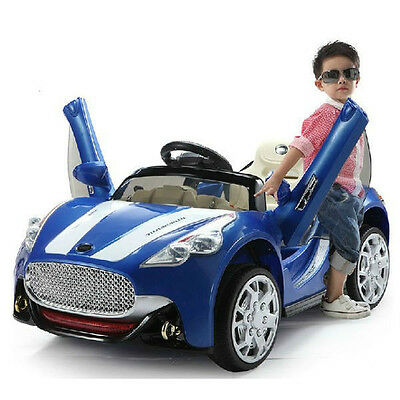 Maserati Style 12V Kids Ride On Car Battery Power Wheels Remote Control Blue