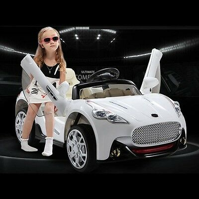Maserati Style 12V Kids Ride On Car Electric Powered Wheels Remote Control White